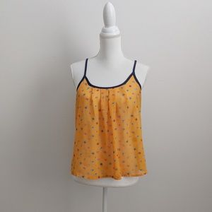 Vera Wang Tops - Vera Wang Princess Orange Floral Sheer Tank